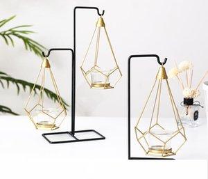 Nordic Luxury Light Kerzenleuchter Metall Tisch Romantische Hochzeit Abendessen bei Kerzenschein Props Crative europäischen Dekorationen Ornamente Kerzenhalter