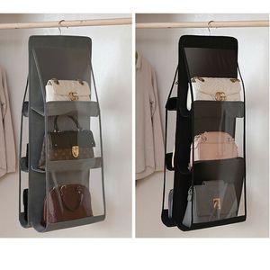 Hanging Bag Organizador Roupeiro transparente saco de armazenamento para Handbag Closet sapatos Organizador Porta parede Sundries Pouch