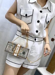 Stack of Cash Crystals Women Money Evening Clutch Bags Diamond Wedding Dinner Purses and Handbags Luxury Women Designer Bags In Stock