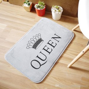 QUEEN Crown Mat Bathroom Coral Velvet Non-slip Mats Household Floor Rugs Carpets Bedroom Decorative Absorbent Doormat