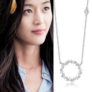endant Necklaces 925 Sterling Silver Zirconia Circle Necklaces & Pendants Chain Necklace Jewelry Collar Colar de Plata sterling-silver-je...