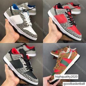 Dunk Low Pro SB White Cement Black Grey Red Fire Men Women Running Shoes Freddy Krueger Degrees Designer Basketball Sport Trainers Sneakers