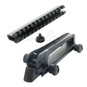 Metall abnehmbarer Tragegriff mit Dual-Blende hinten Eisen Anblick Picatinny-Schienen-Montage Mechanische Diopter für M4 M16 AR15