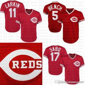 2019 neue 30 Ken Griffey Jr 66 Yasiel Puig 17 Chris Sabo 14 Pete Rose Cincinnati Baseball Jersey Reds Johnny Bench Barry Larkin Joey Votto
