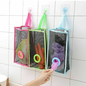 Kitchen trash storage bag Kitchen Hanging Mesh Garbage Bag Organizer Storage Eco-friendly Shopping