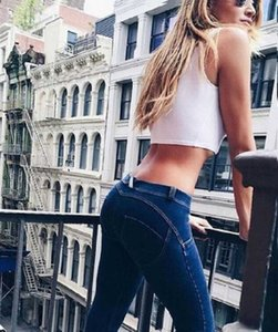 Mulheres pêssego nádega Jeans Leggings Elevador Hip Skinny Casual push Denim alta Elastic calças Jeggings Magro Sexy Mulheres Jeans Pencil