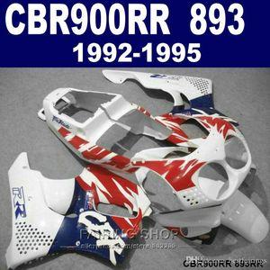 High quality fairing kit Honda CBR900RR CBR 893 1992-1995 red blue white fairings set CBR 900 RR 09 10 11 DF47