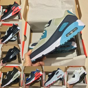 High Quality 2020 New Air Cushion 90 Casual Running Shoes Men Women Cheap Black White Red 90s Sneakers Classic Air90 Hot Walking Shoes