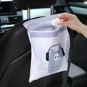 Car garbage bags, garbage cans, pasted creative cute cartoon, garbage classification of cleaning bags used in cars