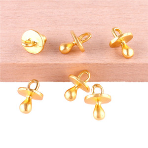 23384 20PCS Gold Color Baby pacifier Charms Pendant For Jewelry Making Bracelet Handmade Accessories