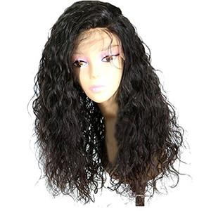 Water Wave 360 Lace Frontal Pelucas Peluca brasileña del pelo de la Virgen para las mujeres Glueless 360 100% cabello humano 130% Densidad Peluca delantera del cordón