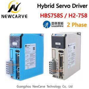 NEMA34 모터 NEWCARVE 하이브리드 서보 스테퍼 드라이버 LEADSHINE HBS758S H2-758 2 상 AC60-75V