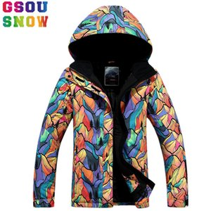 GSOU SNOW Brand Ski Jacket Women Waterproof Snowboard Jacket Winter Outdoor Skiing Snowboarding Snow Clothes Cheap Sports Suit T190920