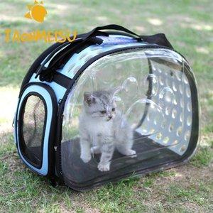 Chien Transparent Pet Puppy Pliable Cat Porte-Sac à bandoulière randonnée à l'extérieur pour les petits chiens Animaux Kittens chiots Kennel sac des