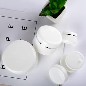 50PCs Refillable Bottles Travel Face Cream Lotion Cosmetic Container White Portable Plastic Empty Makeup Pot Jar 20 50 100 250g