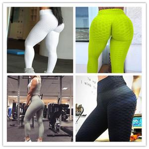 2020 мода женские бодибилдинг йога брюки растягивающие тощий с высокой талией рухнутой прикладом подъемная длительная тренировка нажимает леггинсы случайные брюки