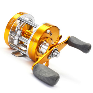 Multicolor Right Hand Full Metal Double Brake Reel 40# Drum Lei Qiang Round Boat Fishing Round Lu Ya Fishing Line Fishing Gear