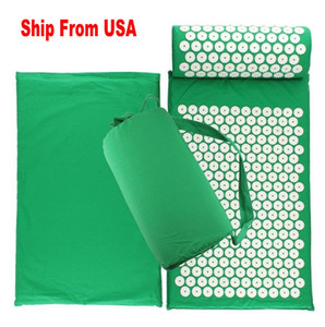 3 Pcs US Stock Lotus Acupuncture Mat Massage Yoga Mat Fitness Shakti pour le dos Coussin et oreiller Soulager le stress Set Pin Pad FY6140
