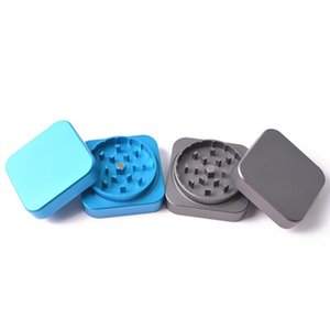Metal Smoking Crushers Square Shape 2 Layers Bright Colors Smoke Grinder Fit Business Gifts Herb Grinders JXW613