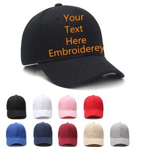 Özel Beyzbol Şapkası Kendi Metin Işlemeli Pamuk Ayarlanabilir Snapback Şapka Baba Şapka