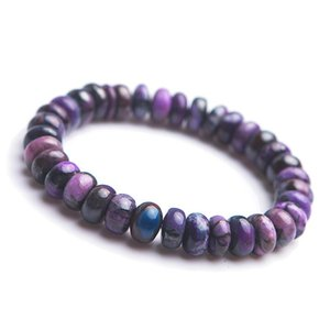 Genuine Purple Natural Sugilite Bracelets Women Femme Stretch Healing Crystal Gemstone Marquise Bead Natural Stone Bracelet