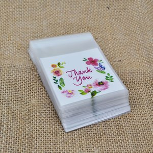 50 100pcs lot Write Thank You Plastic Transparent Cellophane Baking Candy Cookie Gift Bag For Wedding Birthday Party Deco Favors
