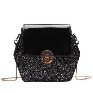 New Elegant Shoulder Bag Women Wild Simple Messenger Bag For Girls Fashion Solid Color Sequin Covered Shoulder K620