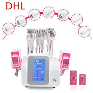 40k ultrasonic vaccum cavitation radio frequency lipo laser sliming machine Multi-polar rf weight loss salon beauty equipment