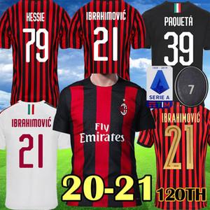 AC Milan IZ IBRAHIMOVIC 2019 2020 2021 Camiseta de fútbol CALHANOGLU ROMAGNOLI AC 120 años ROMAGNOLI Camisetas de fútbol KESSIE AC 19 20 21 Uniforme para niños