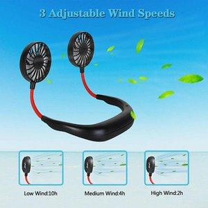 Fan Taşınabilir Seyahat Spor Mini Fan Via Ücretsiz Kargo DHL Şarj Boyun Fan Tembel USB Asma