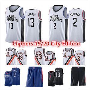 New Kawhi 2 Mens LeonardLA Cheap Jersey Paul 13 George Lou 23 Williams CityClippers White Edition Basketball Jerseys