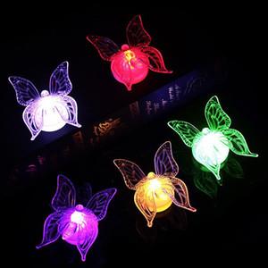 3D LED Бабочка Night Light Акриловые Наклейки Бабочка Стены Свет С Батареями Дом Украшения Стены Стикеры F3413