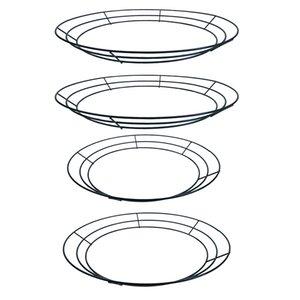 4x Wire Anelli Corona Wire-Frame Corona Fare Anelli Natale Capodanno Decor