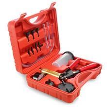 Handheld Brake Fluid Bleeder & Vacuum Pump Tester Kit Pressure Vacuum Gauge Tool