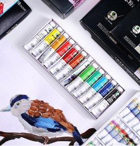 (12ml / adet) 12/18/24/36 renk pigmenti grafiti art özel bir dizi boyama mineral yağ boyama resim art boya gouache