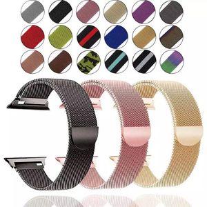 banda Milanese loop para assistir maçã banda pulseira 40 milímetros 38 milímetros para iWatch 5/4/3/2/1 42 milímetros 44 milímetros pulseira de aço inoxidável pulseira de pulso
