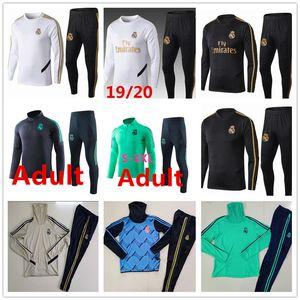 2019 2020 Real Madrid chándal chándal de pista del juego de fútbol de los hombres 2019 2020 traje de la formación de adultos camiseta de fútbol de deporte