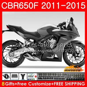Corpo Para HONDA CBR650F CBR 650 F CBR650F 11 12 lustroso 13 14 15 16 42HC.12 CBR650 F CBR650 CBR 650F 2011 2012 2013 2014 2015 Fairing
