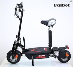 Seat ile Yetişkinler için Daibot Elektrikli Scooter Off Road Tekerlekler İki Tekerlek Elektrik Scooter 10 İnç 1000W 48V Elektrikli Kaykay