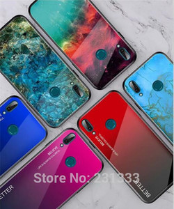 Tempered Glass TPU Hard Case For Huawei Y9 Y6 PRO 2019 Honor 10i 10 Lite 20 PRO P20 P30 Better Gradient Cover Skin Luxury 100pcs
