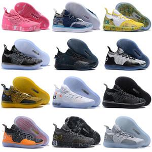 2019 جديد KD 11 العمة Pearl Pink Paranoid Cool Grey EYBL Kevin Durant XI رجالي حذاء كرة السلة أعلى 11s KD11 حذاء رياضي فوم مقاس 7-12