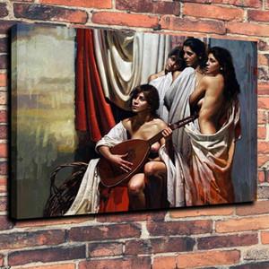 Muse Fille Guitare Art Home Decor Artisanats / HD Imprimer Peinture à l'huile sur toile Wall Art Toile Photos 191103