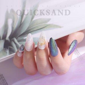 1PC 6 Colors Nail Glitter Powder Long-lasting Waterproof Japanese Quicksand Powder Quick-drying No Halo Acrylic Nail Shimmer TSL