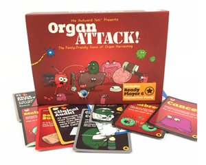 Organ ATTACK Cards Game Board Game the Family-Friendly Game of Organ Harvesting creating a semi-educational party boys girls adults card