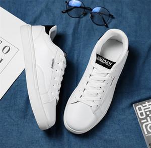 2020 Удобные ботинки женских мужские дикие плоские ботинки сплетенные кожи заплатки модный повседневная обувь Stud Sports Skate теннис