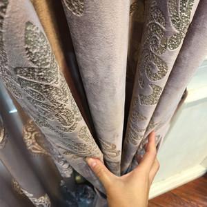 De gama alta de terciopelo dorado cortinas de tul para estar Comedor Dormitorio cortinas opacas decoración del hogar de la cortina de ventana