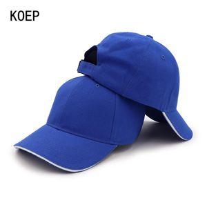 KOEP Yüksek Kaliteli% 100 Pamuk Beyzbol şapkası Casquette Ayarlanabilir Katı Kadınlar Caps Erkekler Basit Baba Şapka Takımı Sandwich Siper yFaqR