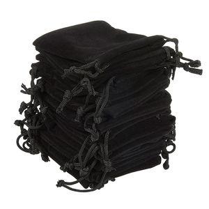 ewelry Verpackung anzeigen Soft Velvet Beutel Zugbänder für Schmuck Geschenk Verpackung Packung von 100 Beutel Beutel für Partei Hochzeit Supplies B ...