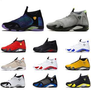 Nike Air Jordan 14 Retro Canne En Bonbon 14s Hommes Chaussures De Basketball 14 Thunder DMP Desert Sand Le Dernier Coup Noir Toe Designer Sport Trainer Baskets Taille 8-13