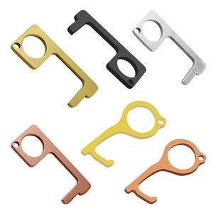 Aufzug Presse Werkzeug 16 Styles EDC-Tür-Öffner bewegliche Türgriff Keychain Höhenverstelltaste Schlüsselring OOA7964